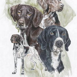 Barbara Keith - German Shorted-Haired Pointer w/Ghost