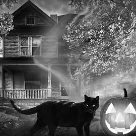 Debra and Dave Vanderlaan - Ghost at Halloween in Black and White