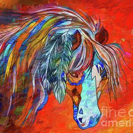 Janice Rae Pariza - Ghost Horse Mixed Media Painting
