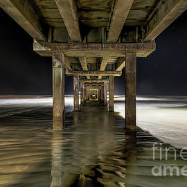 Tod and Cynthia Grubbs - Ghostly Caldwell Pier at Dark