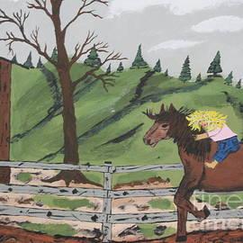Gianna Riding  Bareback by Jeffrey Koss