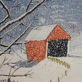 Jack McKenzie - Gifford Covered Bridge Snowstorm