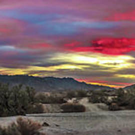 Gila Mountains And Sonoran Desert Sunrise by Robert Bales