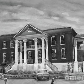 Gilmer County Old Courthouse - Black And White by Jan Dappen
