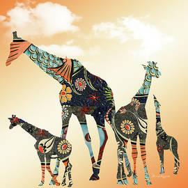 Giraffe Stroll by Ericamaxine Price