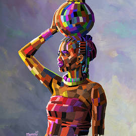 Anthony Mwangi - Girl Carrying Water