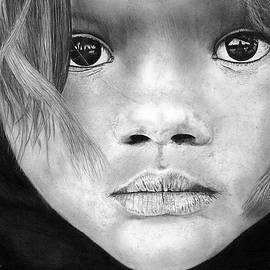 James Schultz - Girl Closeup Drawing