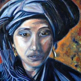 Jane Gatward - Girl in a Blue Headress