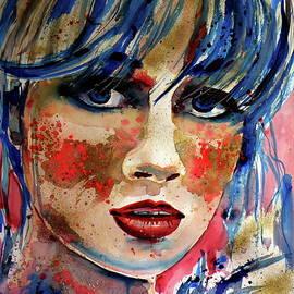 Kovacs Anna Brigitta - Girl in blue and gold