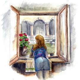Albert Calzetta - Girl in Window