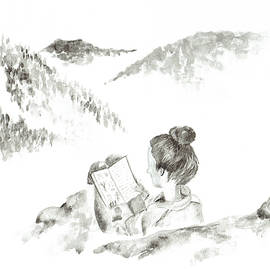 Katrina Ryan - Girl Reading in the Mountains