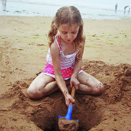Girl with a Blue Shovel by Derrick Neill
