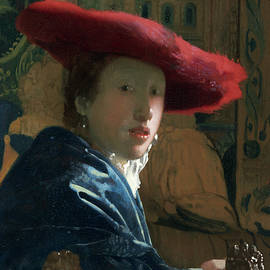 Girl With The Red Hat by Jan Vermeer