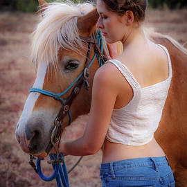 Girls and Horses 59 by Mike Penney