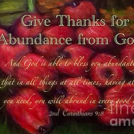 Kimberlee Baxter - Give Thanks for Abundance from God