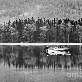 Glacier National Park Lake Reflections In Black and White by Kay Brewer