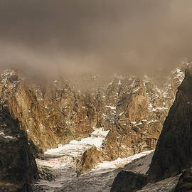 Glacier of Nant Blanc in French Alps by Paul MAURICE