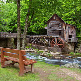 Glade Creek Grist Mill In Summer