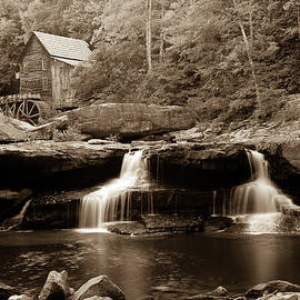 Glade Creek Grist Mill - West Virginia - Sepia by Gregory Ballos