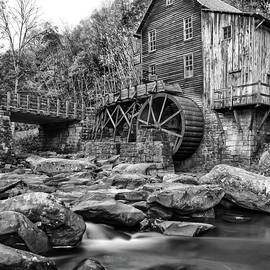 Glade Creek Mill in Black and White by Norma Brandsberg