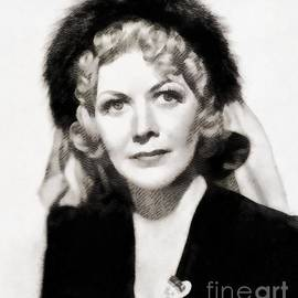 John Springfield - Gladys george, Vintage Actress by John Springfield