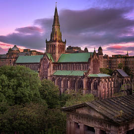 Andrey Omelyanchuk - Glasgow Cathedral and Glasgow Skyline in the Morning, Scotland,