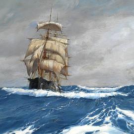 Montague Dawson - Gleaner at sea