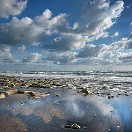 Glowing in the Wet Sand by Debra and Dave Vanderlaan