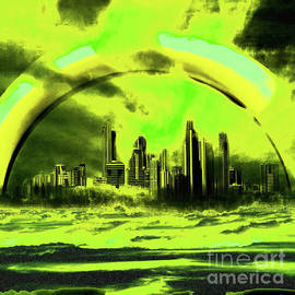 Gold Coast-green by Jolanta Bibianna Maciolek