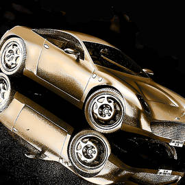 Gold Sports Car by Maurice Gold