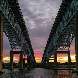 Gold Star Bridge Sunset 2016 by Kirkodd Photography Of New England