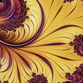 Georgiana Romanovna - Golden Autumn Leaf Abstract