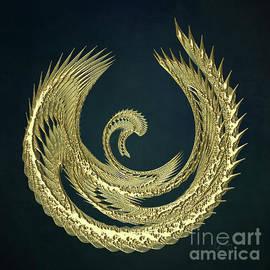 Gabriele Pomykaj - Golden Baby Swan Abstract