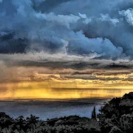 Golden Curtain of Rain by Heidi Fickinger