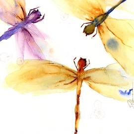 Golden Dragonflies by Dawn Derman