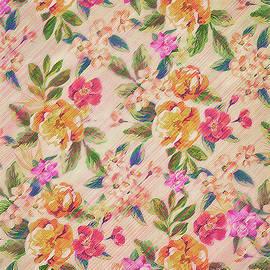 Golden Flitch Digital Vintage Retro  Glitched Pastel Flowers  Floral design pattern by Philipp Rietz