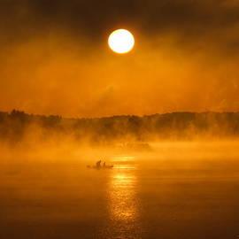 Reid Callaway - Golden Fog Reflections Lake Oconee Georgia