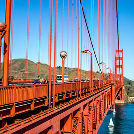Golden Gate Bridge - From The Edge by Bill Gallagher