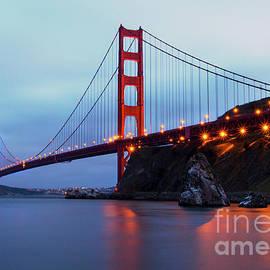 Jennifer Ramirez - Golden Gate Bridge Nightfall