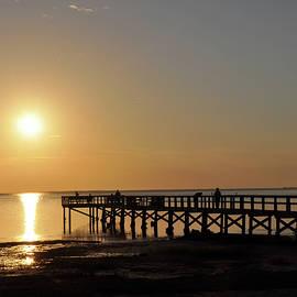 Bill Cannon - Golden Gulf Sunset - Crystal Beach Florida