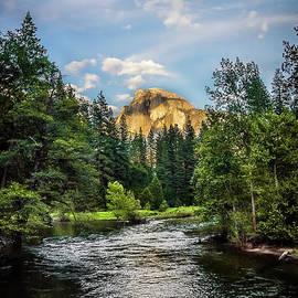 Golden Half Dome and river at Yosemite Yosemite National Park by RicardMN Photography