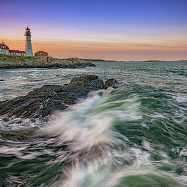 Golden Hour at Portland Head Light - Rick Berk