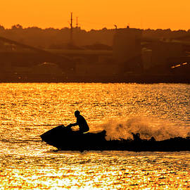 Brian Wallace - Golden Hour Jet Ski Silhouette