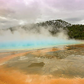 Rod Gimenez - Golden Hour on Grand Prismatic Spring at Yellowstone National Park