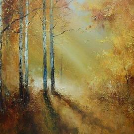 Golden Light in Autumn Woods by Igor Medvedev
