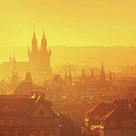 Jenny Rainbow - Golden Misty Prague Panorama
