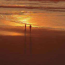 Golden Moments - Oregon Coast - Seascape - Ocean Sunset by Brooks Garten Hauschild