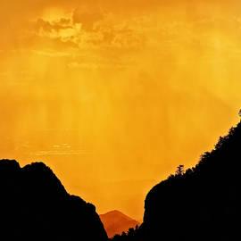 Flying Z Photography By Zayne Diamond - Golden Rain Over Albuquerque, New Mexico