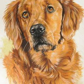 Golden Retriever in Watercolor by Barbara Keith