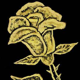 Irina Afonskaya - Golden rose, painting
